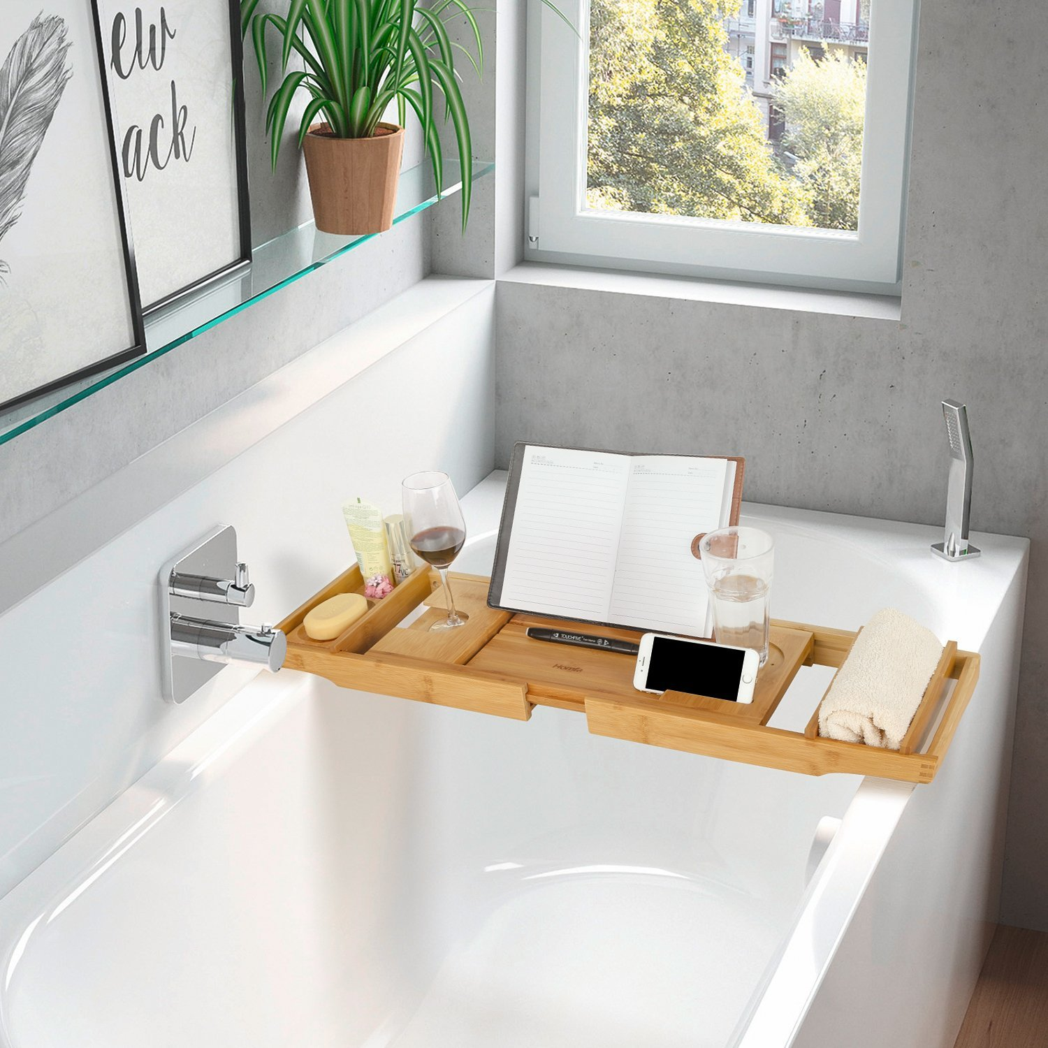 Bamboo Bathtub Tray – I NEED this for SERIOUS